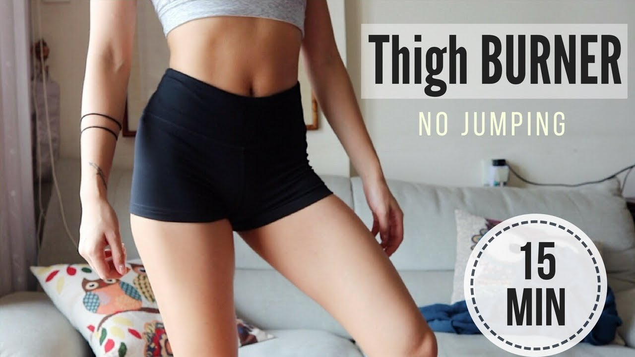 15 Min Burn Thigh Fat Workout No Jumping To Slim Inner Thighs Legs Sam S Health And Fitness