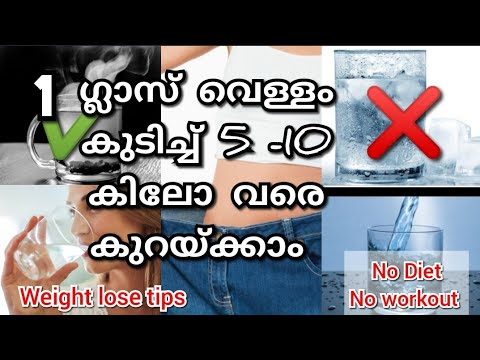 À´µ À´³ À´³ À´• À´Ÿ À´š À´š À´µà´£ À´£ À´• À´±à´¯ À´• À´• Weight Lose Tips Water For Weight Loss Malayalam No Diet Sam S Health And Fitness